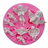Mujiang Angel Baby Fondant Mold Silicone Cake Decorating Tools Chocolate Polymer Clay Molds Cake Topper Decoration