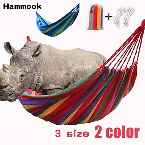 litymitzromq Outdoor Leisure Courtyard Hammock,Outdoor Portable Rainbow Hammock Light Weight Camping Travel Swing Hang Bed Blue 190X150cm