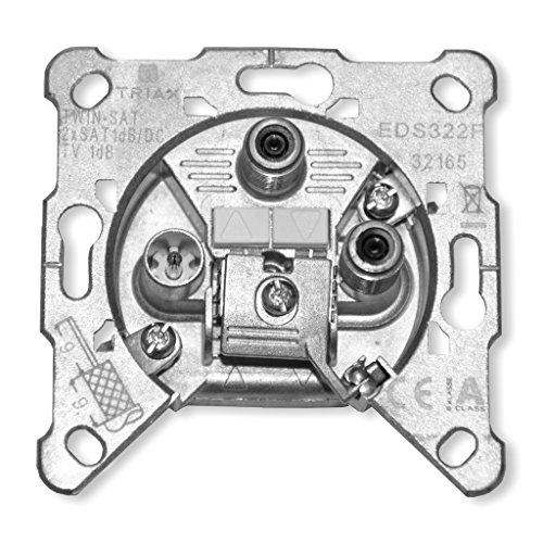 Hirschmann Triax Sat Twindose 3-Loch EDS 322 F, 1,2 dB