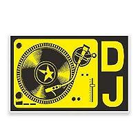 Jinling DJ音楽装飾ウィンドウ車のステッカーカービニールポスターステッカー装飾ギフト13cm x 7cm (Color : 1)