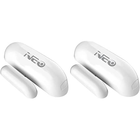 NEO Z-Wave Plus Door/Window Sensor Mini Sized Smart Home Automation Security, Magnetic, Work with Wink, Aeotec, Iris and Vera 2PK