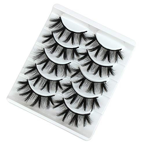 Alysays Easy to Carry 5 Paare Wimpern Mink Wimpern Faux Wimpern Mink falsche Wimpern Dramatische Band Wimpern Wimpernverlängerung Falsche Wimpern Beautiful (Color : 3D 08)