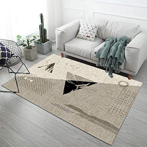JLDNC In- & Outdoor Teppich, Moderner Kurzflor Teppich mit geometrischen auch als Wohnzimmerteppich und Kinderzimmer geeignet,D_0.4x0.6m/1.2x1.8ft