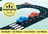 Way To Play Toys Flexible Race Track Toy Road Set King of the Road 40 Pieces