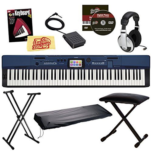 Casio Privia PX-560 Digital Piano - Blue Bundle with CS-67 Stand,...