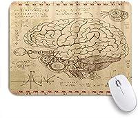 KAPANOUマウスパッド 教育教育面白い脳の描画 ゲーミング オフィス最適 おしゃれ 防水 耐久性が良い 滑り止めゴム底 ゲーミングなど適用 マウス 用ノートブックコンピュータマウスマット