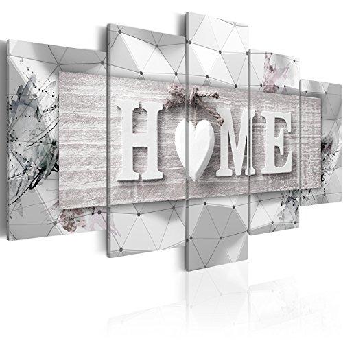 murando - Bilder 3D Effekt 100x50 cm Vlies Leinwandbild 5 TLG Kunstdruck modern Wandbilder XXL Wanddekoration Design Wand Bild - Home Haus Herz Familien m-C-0251-b-n