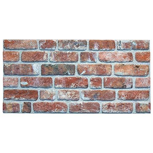 IZODEKOR Wandverkleidung Steinoptik Styropor 3D Wandpaneele - Verblender Steinoptik für Küche, Badezimmer, Balkon, Schlafzimmer, Wohnzimmer, Küchenrückwand und Teras | Steinbrücke