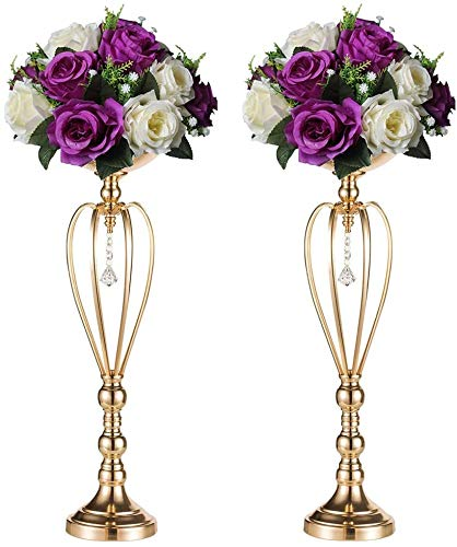 2 Stück/Set Herzförmige Hochzeit Party Blumenregal Ornament, Metall Stumpenkerzenständer Hochzeit Tafelaufsatz für Empfangstische elegant (59 cm × 2) 59 cm x 2.