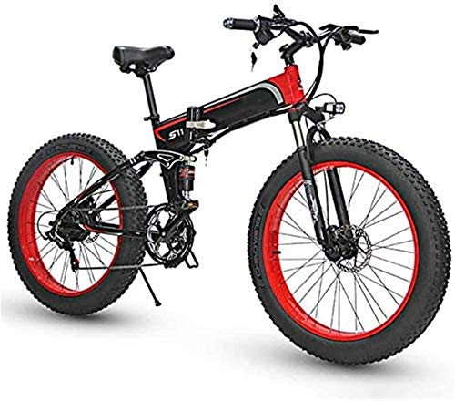 Electric Bike Electric Mountain Bike Electric Snow Bike, Foldable Electric Bike Aluminum Alloy Folding Bicycles 350W 36V Three Work Modes Lightweight with Rear-Shock Absorber for Adults City Commuting