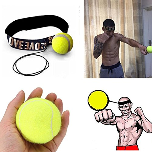 Fight Ball Reflex Speed Training Boxing Punch Fight Jab Ball Headband Punch Exercise for Boxing, MMA and Other Combat Sport