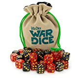 Wiz Dice Set of 40 12mm War Dice, Blood & Oil (Glitter Red and Pearl Black)