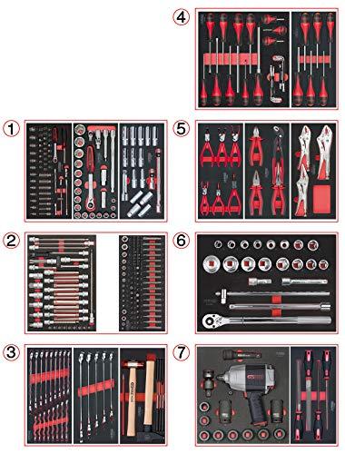 KS Tools 714.0337 - Juego de herramientas para carro de taller (7 cajones)