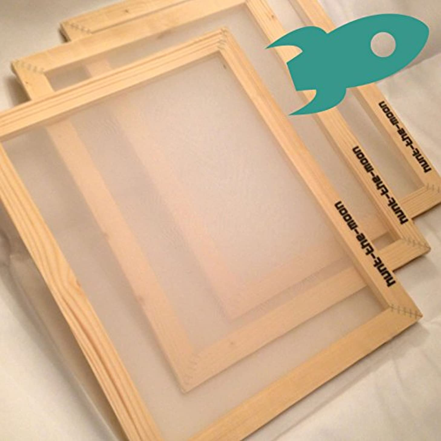 Hunt The Moon Wooden Screen Printing Frame, Medium A4 90t
