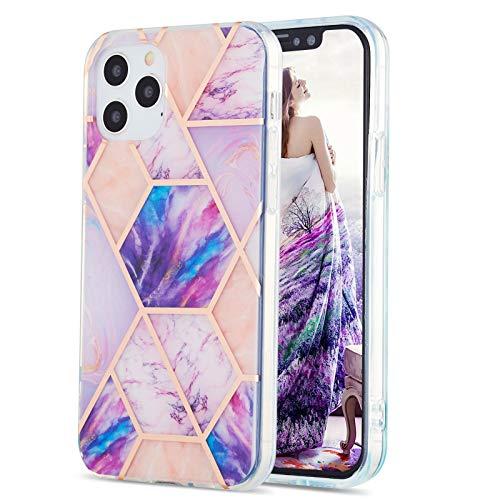 LJP Funda iPhone 12 Pro, Anti-caída Anti-arañazos Mármol Silicone Suave Carcasa, Soft Gel TPU Case Protección Antigolpes Cover para iPhone 12 Pro 6.1 Pulgadas
