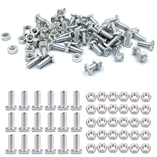 50 Sets Aluminium Greenhouse Nuts and Bolts for Building and Repairing Greenhouse