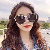 APCHY Occhiali da Sole da Donna,Cornice HDCA Leggera E retrò alla Moda Occhiali da Donna in Nylon con Lenti Grandi Protezione UV400 2021 Nuovo,E