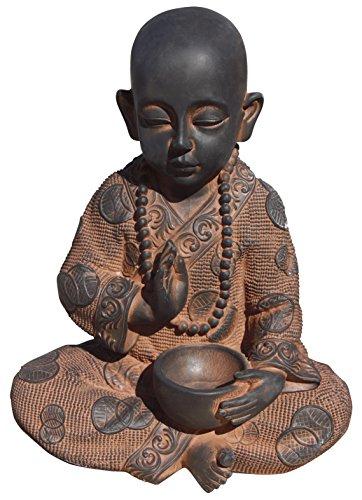 Bouddha enfant de Pierre, pour jardin. Couleur oxido. Mod tycooxido. 37 cm Hauteur. 13 kg