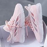 Aerlan Trailrunning Fitnessschuhe,Scarpe da Corsa per Il Tempo Libero Traspiranti a Rete Femminile-Pink_36,Scarpe da Jogging Trainer