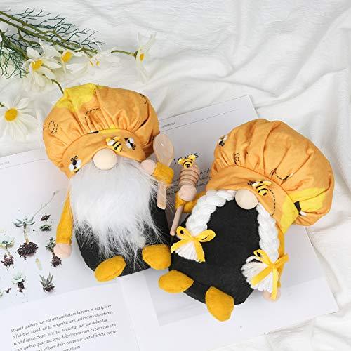 Boylee 2 stuks Sweet GNOME Pluche Dolls met lange baard Yellow Couple Toys Decor 2 stuks Sweet GNOME pluche poppen met lange baard geel paar speelgoed decoratie voor Valentijnsdag huwelijkscadeau