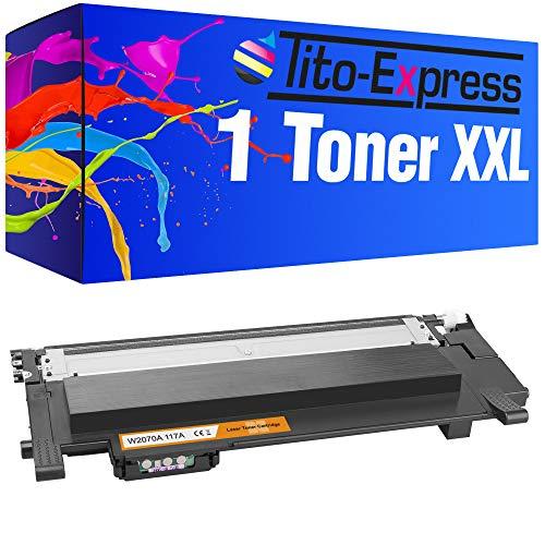 Tito-Express PlatinumSerie 1 Toner XXL con CHIP compatibile con HP W2070A 117A   Adatto per HP Color Laser 150 150A 150NW MFP 170 178NW 178NWG 179FNG 179FNW   Nero 1.000 pagine