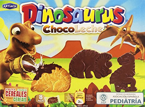 Artiach Dinosaurus Chocoleche Galleta, 8 Paquetes