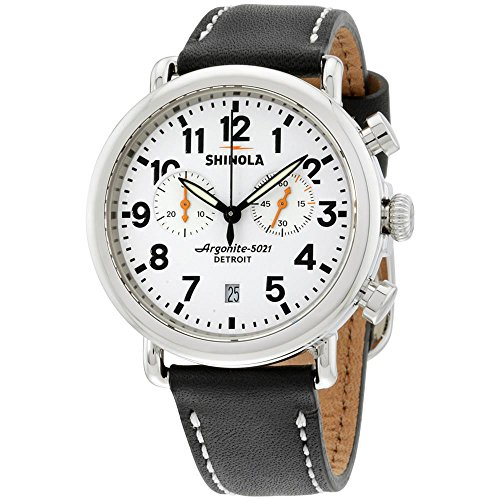 Shinola Herren-Armbanduhr 41mm Armband Leder Schwarz Batterie Analog S0100098