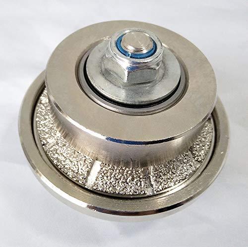3/16 Inch B5 Edges Demi Half Bullnose Vacuum Brazed Diamond Hand Profiler Router Bit Profile Wheel with 5/8-11 Thread for Granite Concrete Marble Countertop
