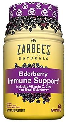 Zarbee's Naturals Elderberry Immune Support with Vitamin C & Zinc, Natural Berry Flavor, 60 Count by Zarbee's Naturals
