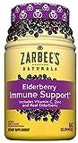Zarbee's Naturals Elderberry Immune Support with Vitamin C & Zinc, Natural Berry Flavor, 60 Count