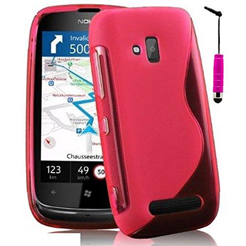 Nokia Lumia 610 HCN phone S-Line-Custodia in Silicone Gel TPU, Custodia morbida per Nokia Lumia 610