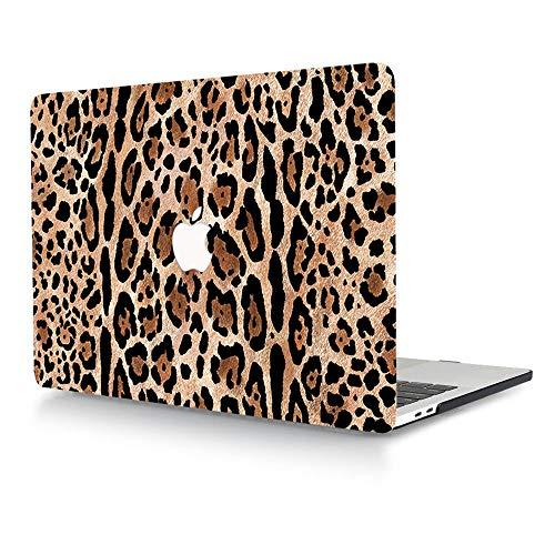 """ACJYX Custodia per MacBook PRO 13 Pollici 2020 2019 2018 2017 2016 Versione A2289 A2251 A2159 A1989 A1708 A1706 Guscio Protettivo Plastica Liscia con Laptop per MacBook PRO 13"""", Leopardo 2"""
