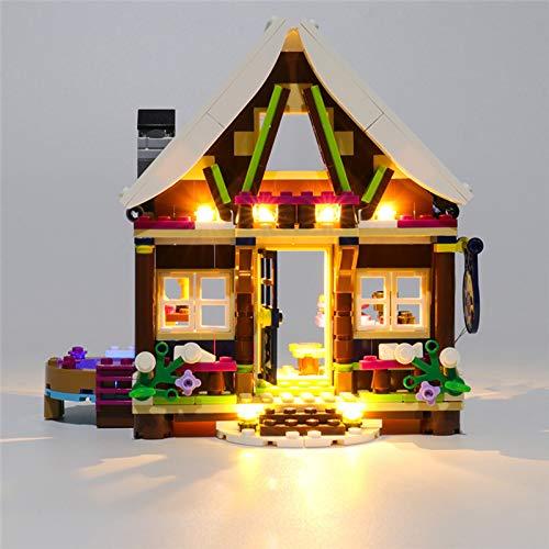 RTMX&kk Conjunto de Luces para Chalet Snow Resort Modelo de Construcción de Bloques, Kit de luz LED Compatible con Lego 41323 (Modelo Lego no Incluido)