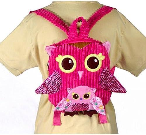 10 Rosa Owl Girls Travel Backpack Buddies Stuffed Bookbag by Fiesta Toys