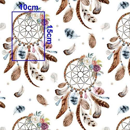 Tissu 100% coton Motif d'animaux Tissu pour enfant vendu au mètre 100 x 160 cm Pour couture et artisanat