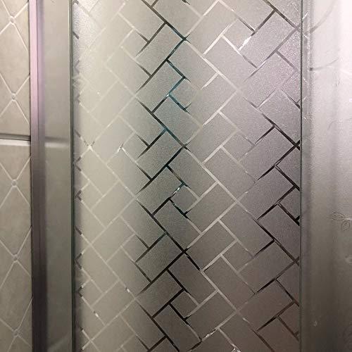 Película de Vidrio electrostática autoadhesiva sin Pegamento película para Ventanas de privacidad Opaca esmerilada película Decorativa Anti-Ultravioleta para el hogar L 45x100cm