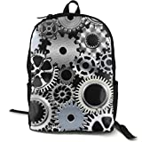 NiYoung Big Capacity Business Water Resistant Laptops Backpack for Men Women, Anti Theft College School Bookbag for Boys Girls, Travel Computer Bag for 15.6 Inch Laptops (Mechanical Engineering Gear)
