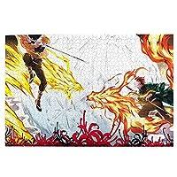 鬼滅の刃 ジグソーパズル1000ピース-大人の子供パズルおもちゃゲームクラシックパズル教育ギフト家の装飾壁ア(75x50cm)パズル