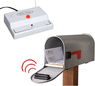 Mail Chime Wireless Transmitter and Audible Arrival Alert Receiver with Bright Led