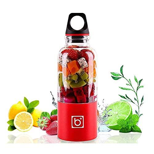 CDPC Draagbare Oplaadbare USB Blender, 500ml Juicer Blender Juice Cup Juice Travel Mini Blender voor Fruit, Groente, Smoothies, Milkshake