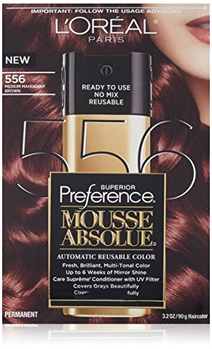 L'Oreal Paris Superior Preference Mousse Absolue, 556 Medium Mahogany Brown