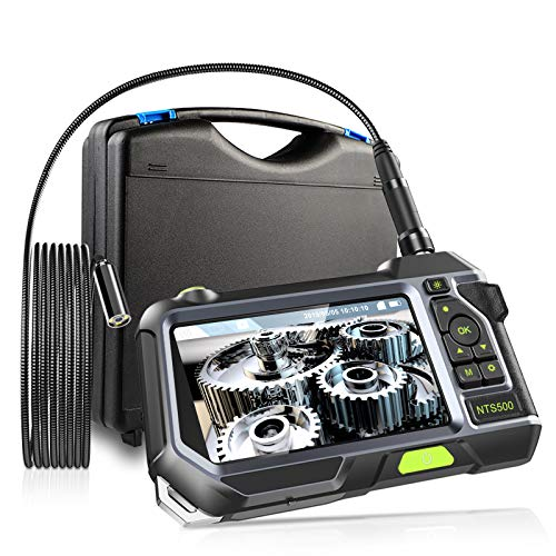 GEECR 内視鏡 カメラ ファイバースコー オートフォーカスカメラ 工業内視鏡 5インチモニター 直径12.5mm 1080P画質 調整可能ライト 3500mAh 懐中電灯付き IP67防水防塵 32Gカード付き 録画・写真・撮影可能 車/エアコンなど設備の点検用 検査カメラ スネークカメラ マイクロスコープ(12.5mm-3m)