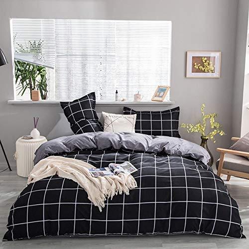 Mdsfe Black star Bed Linen 3 / 4pcs Bedding Set duvet Cover Flat bed sheet pillowcase soft Twin Single full queen king - C4, Flat Bed Sheet, Single 3pcs 150by200
