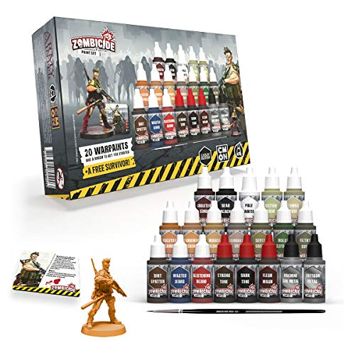The Army Painter   Zombicide   2nd Edition Core Paint Set   20 Acrylic Paints, 1 Survivor and 1 Starter Brush for Cool Mini or Not Zombicide 2nd Edition Boardgame