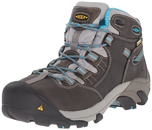 KEEN Utility Women's Detroit Mid Steel Toe Work Boot,...