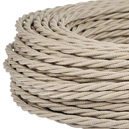 baratos y buenos Cable eléctrico trenzado / alambre trenzado.  El color de la arena.  Sección 2 x 0,75 calidad
