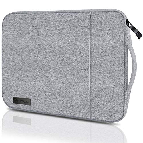 iSOUL Laptop Sleeve Compatible for 13.3-Inch Notebook Tablet iPad Tab, Compatible with 13' MacBook Pro and MacBook Air, Waterproof Shock Resistant Bag Case with Accessory Pocket, Grey