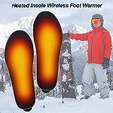 QUUY Plantillas calefactoras con Almohadilla para Calentar los pies con Control Remoto, USB Plantillas térmicas Recargables para Zapatos Plantillas térmicas