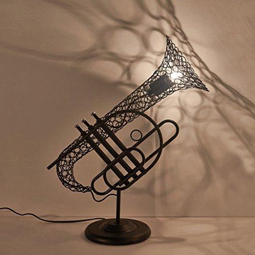 Guo Retro lampe de saxophone Iron Industry Wind Restaurant Cafe Lamp Lampe de table de personnalité créative
