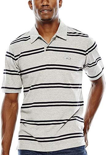 Ecko UNLTD Herren Turncoat Sleeve Striped Polo Short - Grau - Mittel